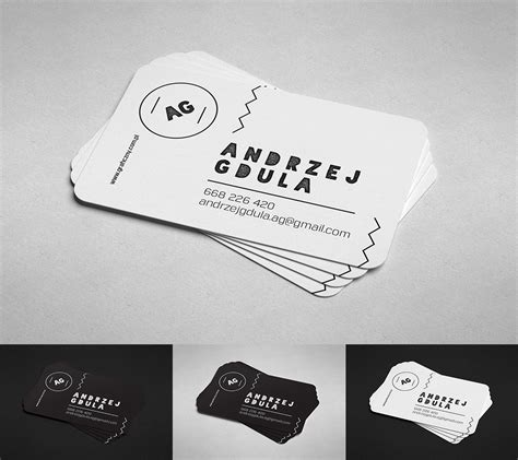 Flat Rounded Business Card Template Psd by Mockup Corner Business Card Graphic Design
