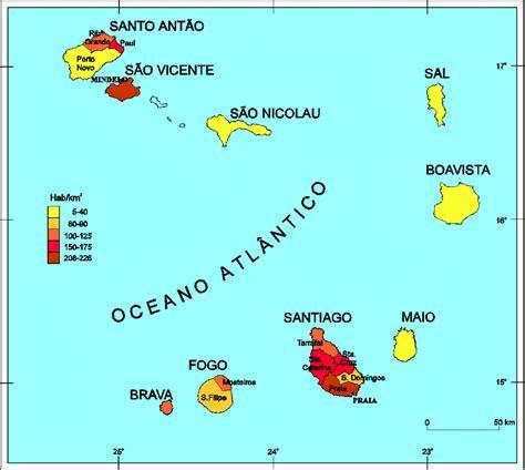 mapa de cabo verde cabo verde mapa f 237 sico