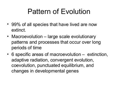 pattern component theory of evolution evolution