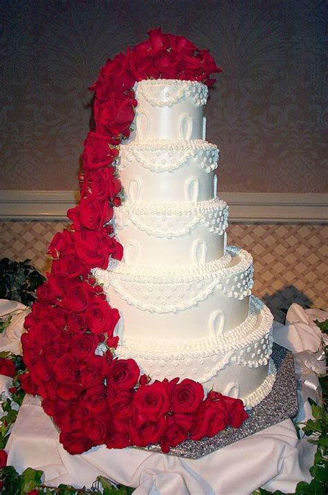 Wedding Cakes Roses by Wedding Cakes Pictures Five Tier Roses Wedding Cake