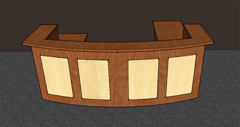 Check In Desk Furniture by 10 Foot X 8 Foot X 42 Inches U Shaped Reception Desk