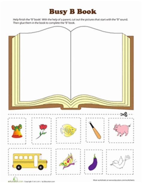 letters and lessons for the books b book worksheet education