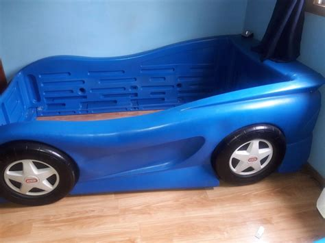twin size race car bed little tikes twin size bed blue race car michigan ebay