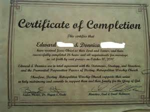 marriage counseling certificate of completion template here s our certificate we s official