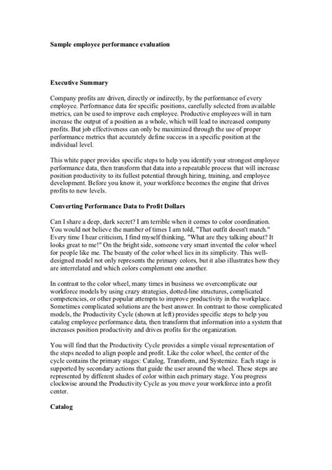 Appraisal Letter For Internship Sle Employee Performance Evaluation