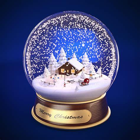 christmas snow globe by adam zivicky realistic 3d