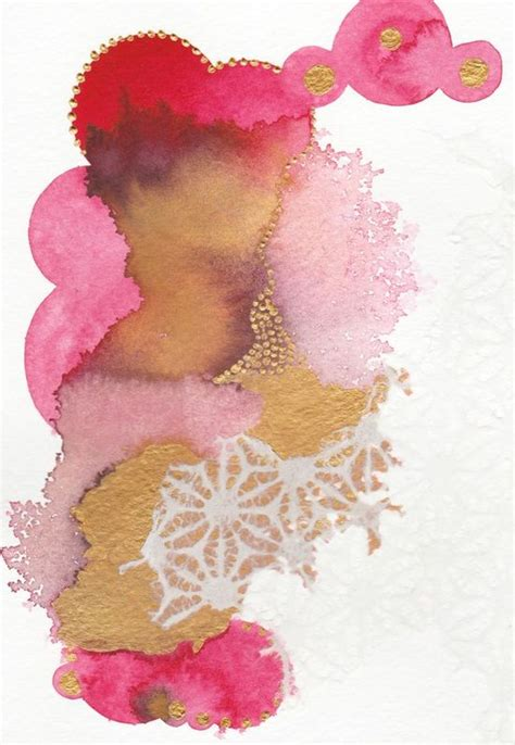 home decor photos 9926 abstract pink and gold painting