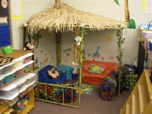 Interior Design For Preschool Classroom Reading Hut Classroom Safari Decor Pinterest
