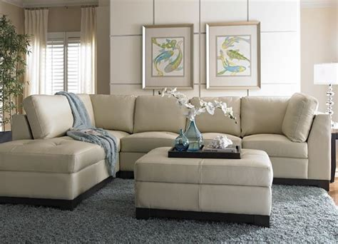 Havertys Sectional Sofa This Cream Leather Sofa Looks Havertys Sectional Sofa
