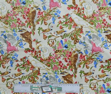 Patchwork Fabric Australia - quilting patchwork sewing fabric australian bird