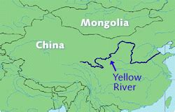 yellow river map maps china map yellow river