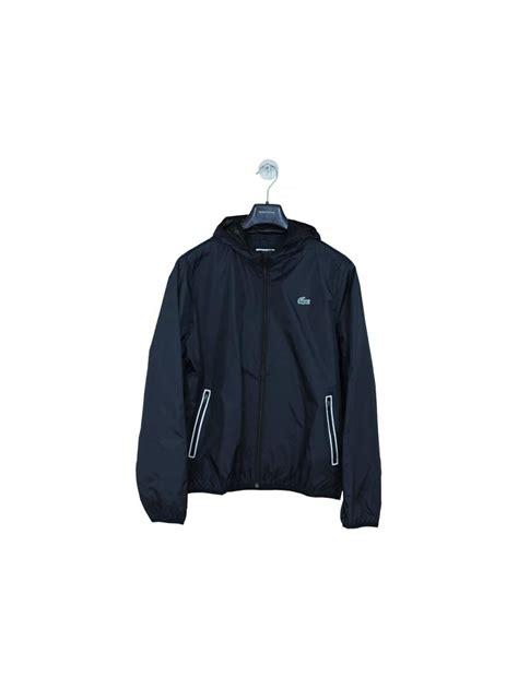 Sports Hooded Zip Jacket lacoste sport hooded zip through jacket in black