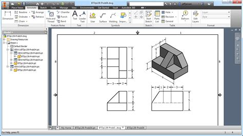 pattern sketch tool inventor inventor tutorial with isometric sketches intermediate