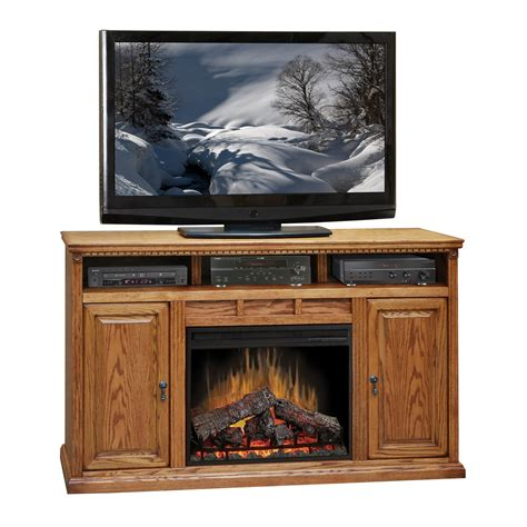 62 electric fireplace legends furniture scottsdale oak 62 quot electric fireplace tv stand made in the usa the
