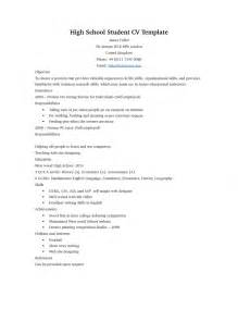 Curriculum Vitae Outline by Doc 745959 High Resume Template No Work