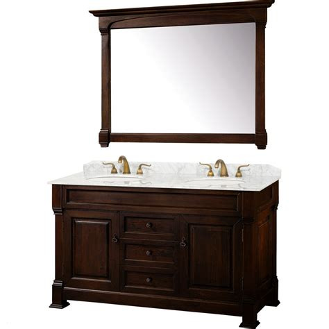 wyndham collection andover   traditional double sink bathroom vanity wc td dkch