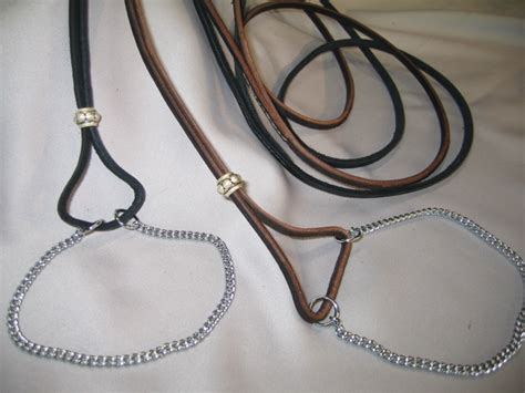 show leads custom leather lace martingale w chain throat custom leather