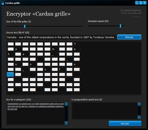 Cardan Grille by Encryptor Cardan Grille V3 0 Afterdawn