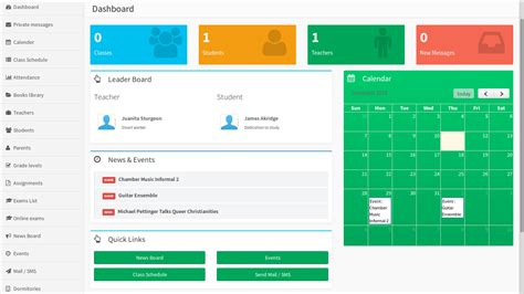 school management system website templates gallery