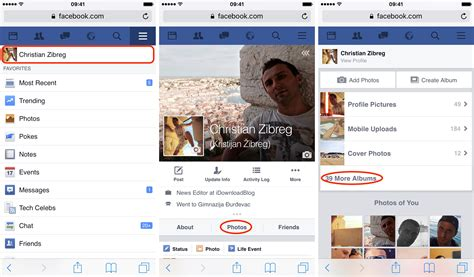 mobile fb how to photos and