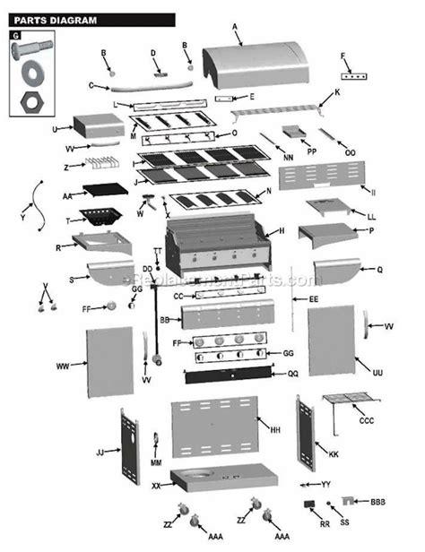 char broil parts diagram char broil 463241413 parts list and diagram
