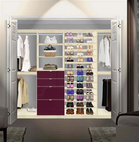 isa closet system max shoe storage shelves and drawers