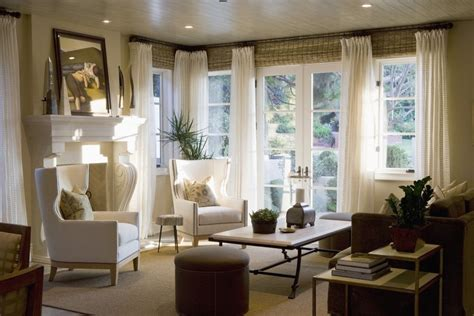 wohnzimmer vintage stil creative window treatments spaces traditional with