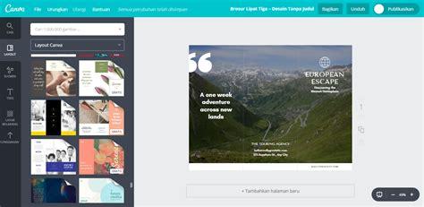 desain brosur wisata buat desain brosur wisata terbaru canva