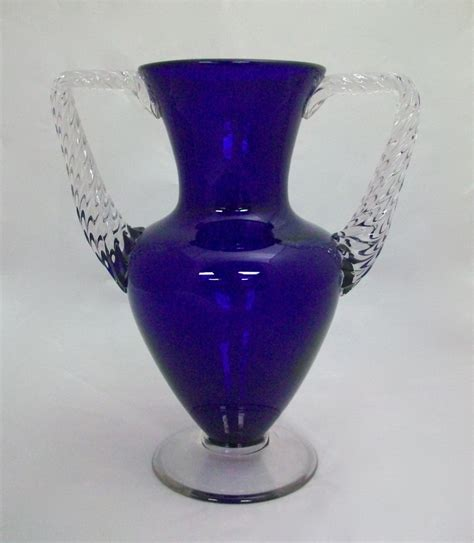 morgantown electra cobalt vase for sale antiques