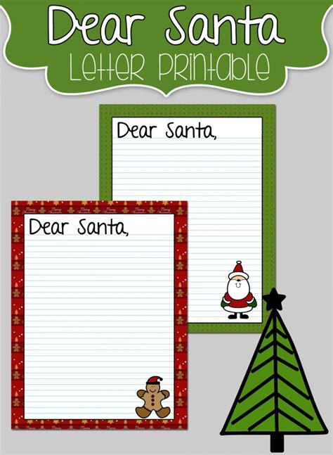 dear templates free dear santa letter printables surviving a s