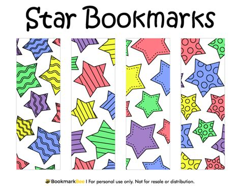 printable election bookmarks free printable star bookmarks download the pdf template