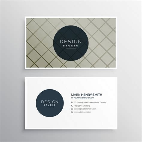 elegant business card template with geometric lines vector