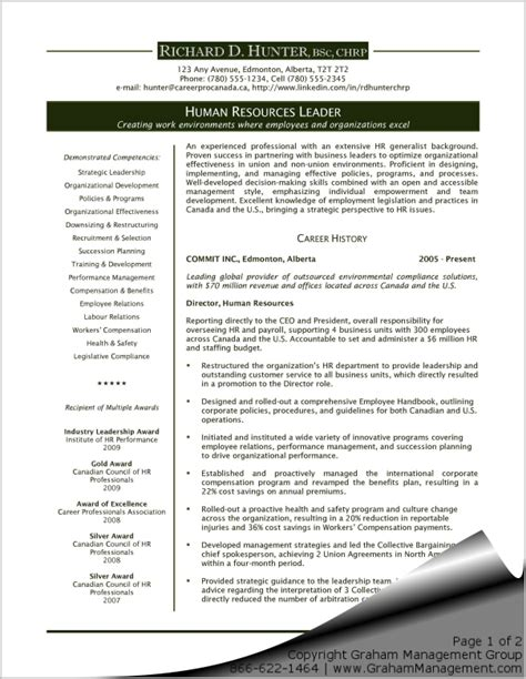 Executive Resume Exles by Human Resources Executive Resume Graham