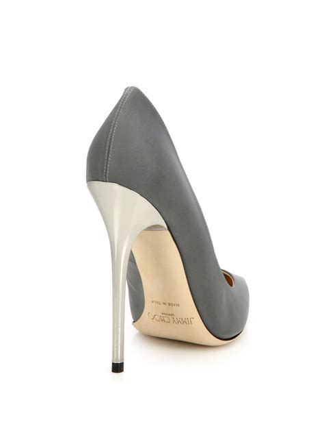 Point Toe Pumps lyst jimmy choo anouk fabric point toe pumps in gray