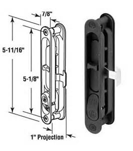 Patio Screen Door Handle Wgsonline Sliding Patio Screen Door Latch And Pull 5 1 8 Quot H C Black