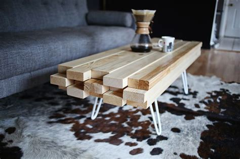 How To Build A Wooden Coffee Table Diy Wooden Coffee Table A Beautiful Mess