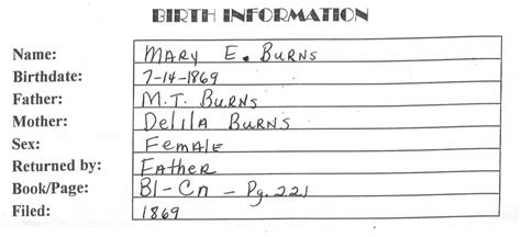 Birth Records Search Birth Records Search Exle
