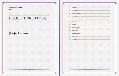 project proposal template free microsoft word templates