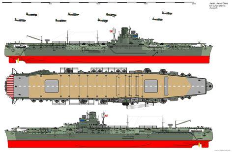 junyo class aircraft carrier 1944 by ijnfleetadmiral on deviantart