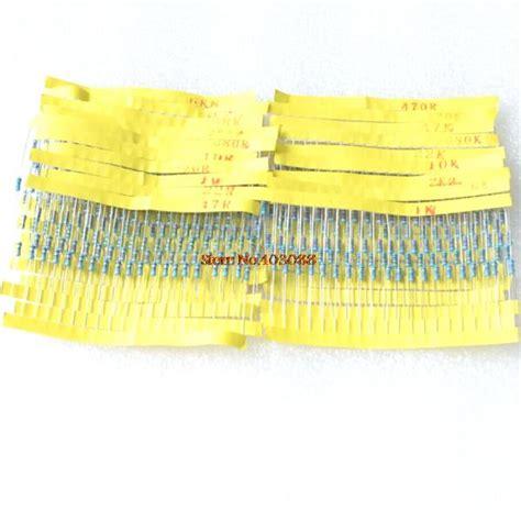 metal resistor package aliexpress buy new 41 4w 1 accuracy resistors kit metal resistor package 20 kinds