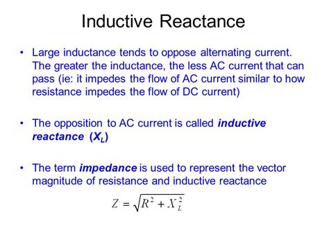 what is the inductive reactance of an inductor that drops 12 vrms and carries 50 marms unit 5 day 8 self inductance ppt
