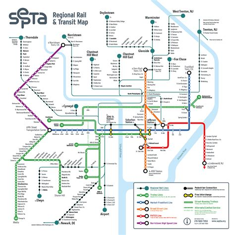 septa regional rail map image gallery septa map