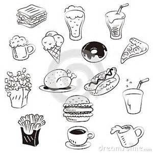 Hand Draw Foods In Doodle Style Stock Photos  Image 32464533 sketch template