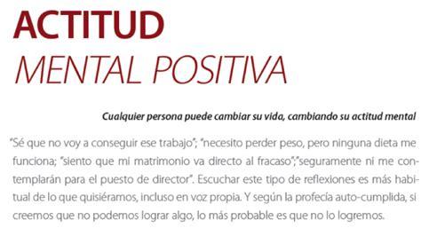 la actitud mental positiva el arte de la supervivencia actitud mental positiva p m a