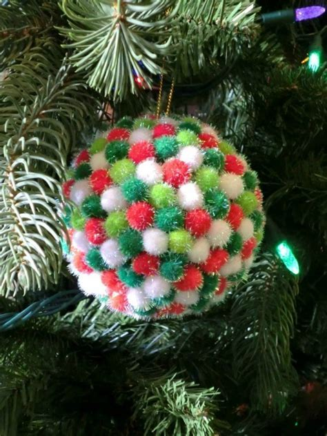pom pom christmas tree ornaments thriftyfun