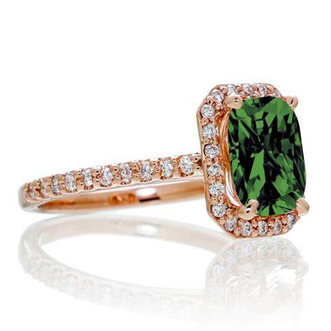 1 5 carat emerald cut emerald and halo engagement
