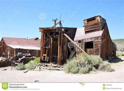 wooden sawmill wooden sawmill bodie ghost town royalty free stock photo