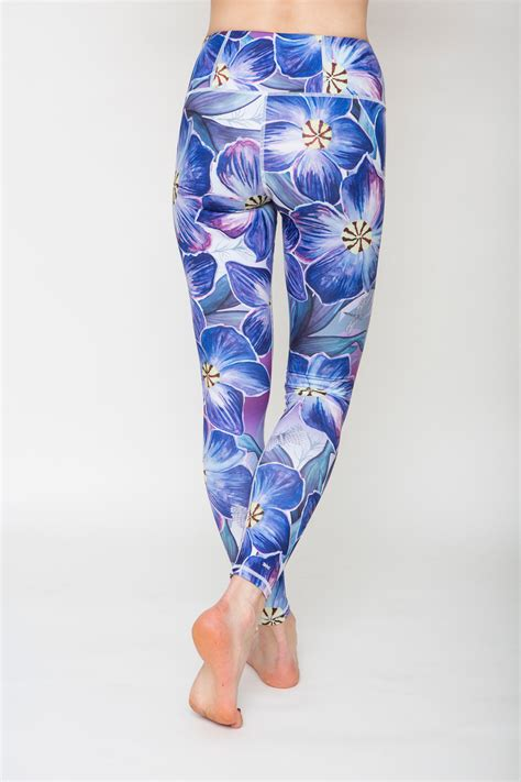 patterned exercise tights floral patterned tight workout leggings niki p