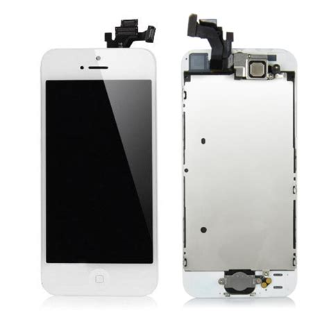 Lcd Dan Touch Iphone 5 midgrade lcd panel screen and digitizer assembly white for iphone 5g g h 7 days warranty