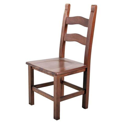 la sedia sedia rustica arte povera con seduta in massello di faggio
